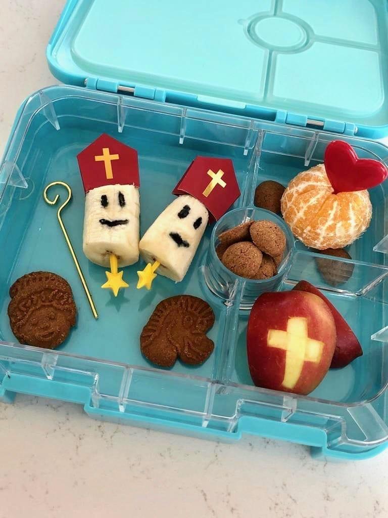 Bento lunchbox in Sinterklaas sfeer