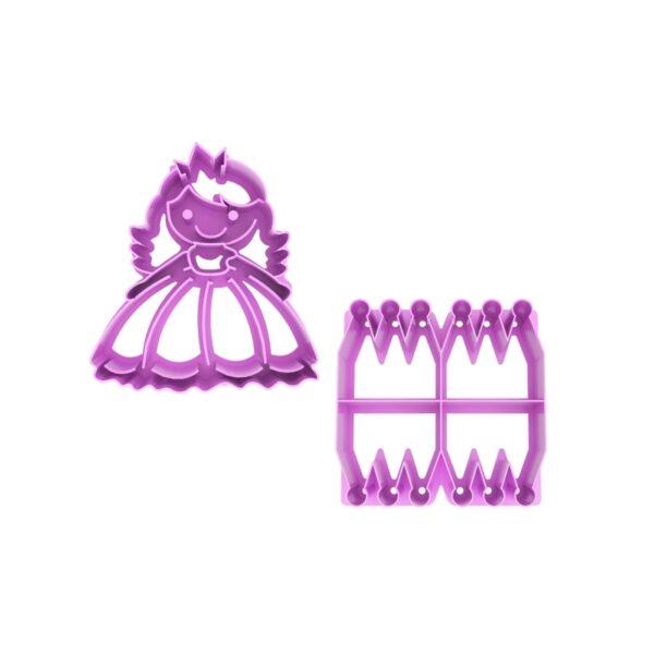Lunch Punch brooduitsteker Princess – Prinses en kroontjes