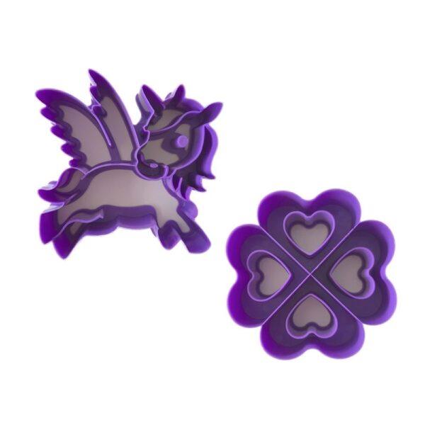 Lunch Punch brooduitsteker – Unicorn Love – Eenhoorn & hartjes