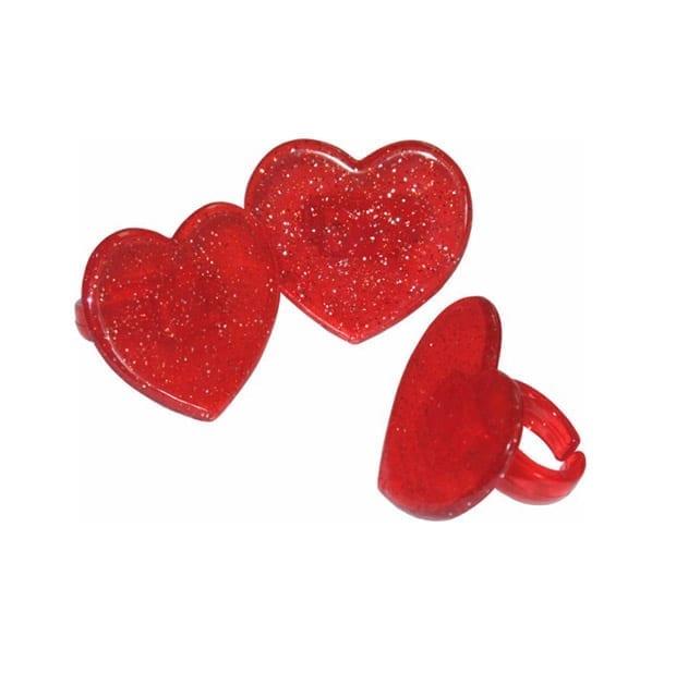 Bento ringen glitter hartjes