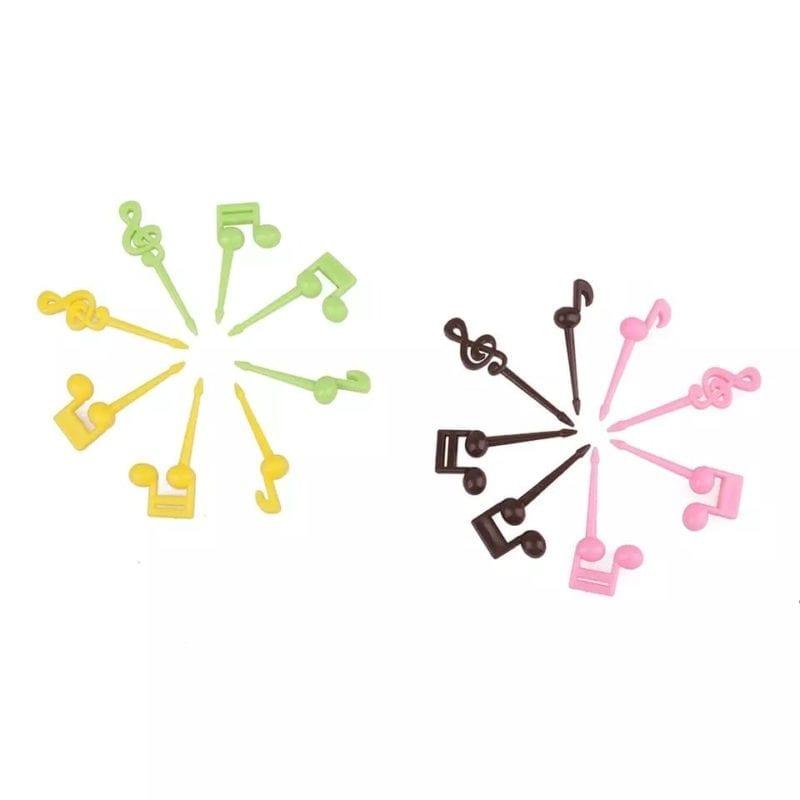Bento prikkers muzieknootjes