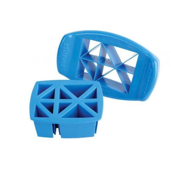 FunBites blauwe driehoeken fruitsnijder