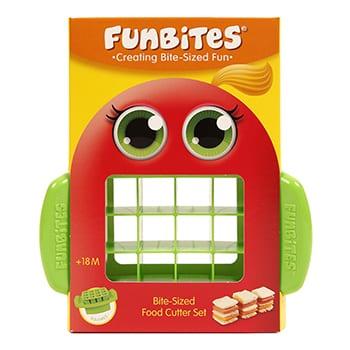 FunBites groene vierkantjes fruitsnijder