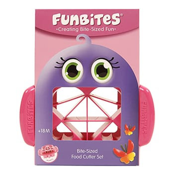 FunBites roze hartjes fruitsnijder
