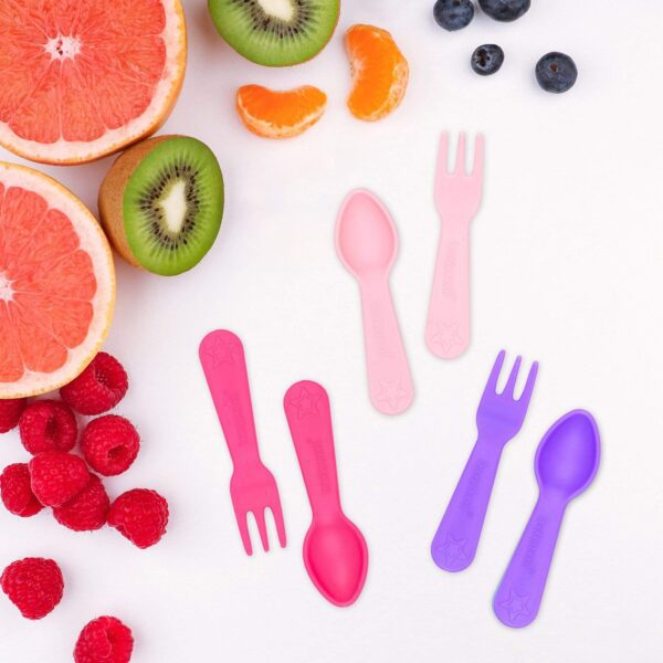 Lunch Punch – Fork & Spoon set Pink