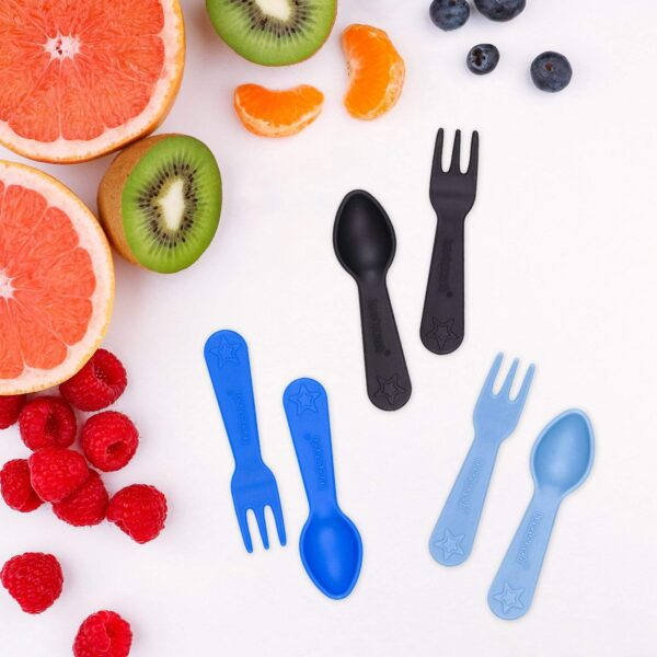 Lunch Punch – Fork & Spoon set Blue