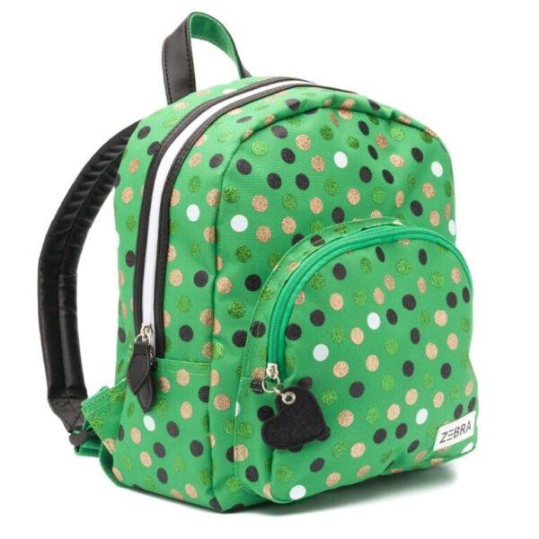 Zebra Rugzak (S) – Wild Dots Green