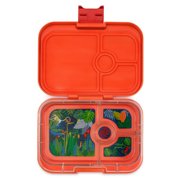 Yumbox Panino 4 vaks – Safari oranje met Jungle tray