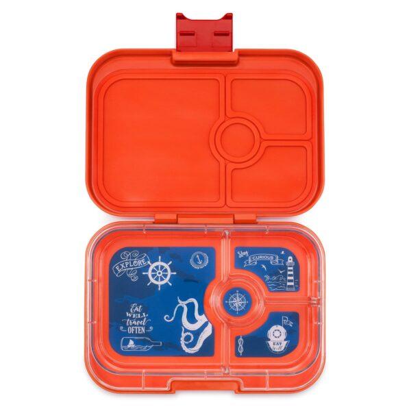 Yumbox Panino 4 vaks – Saffron Oranje met Explorer tray