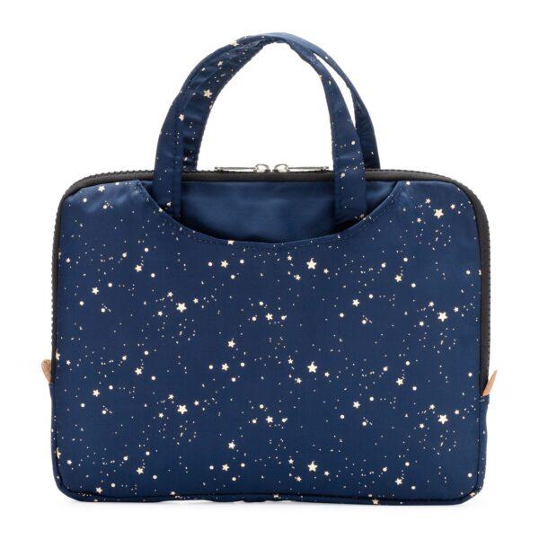 Yumbox Poche – Isolerende hoes met handgrepen marineblauw gouden sterren