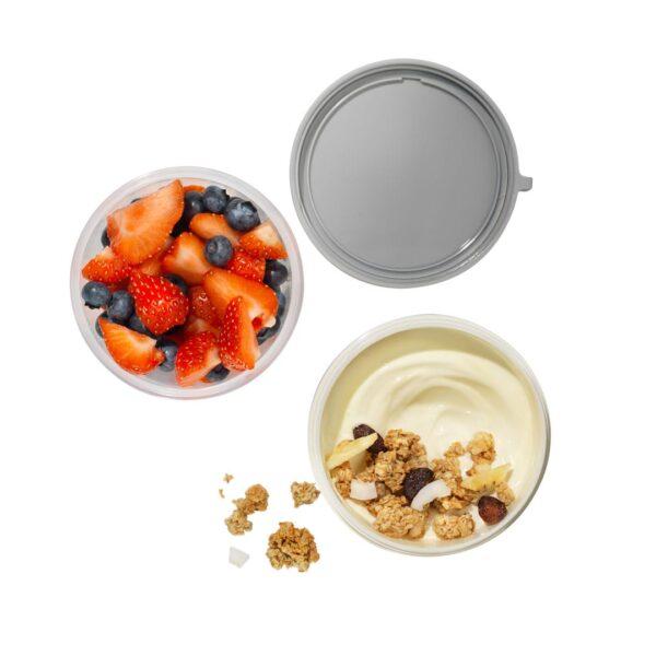 Lock&Lock – Yoghurt en Muesli beker to go (medium) 560 ml + 310 ml