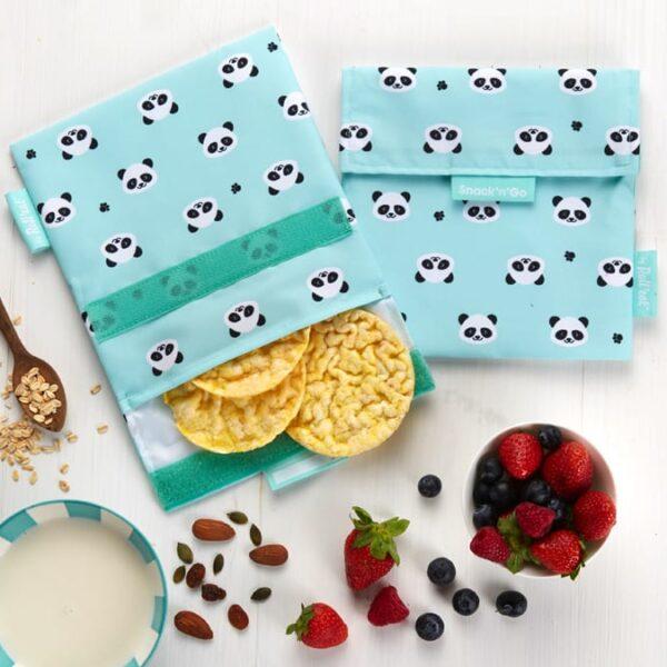 Snack'n'Go Herbruikbaar boterhamzakje – Panda
