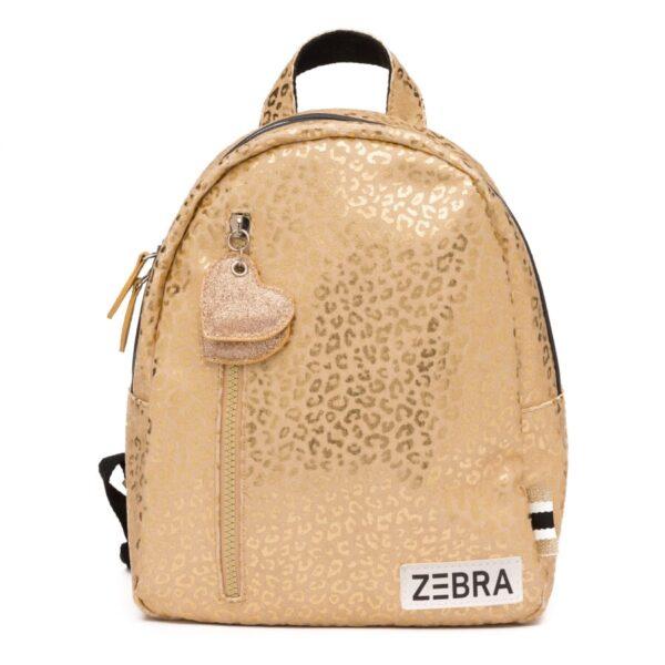 Zebra Rugzak (S) – Gold metallic Leo