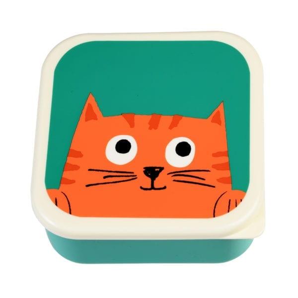 Rex London Snackdoosjes Chester Cat – set van 3