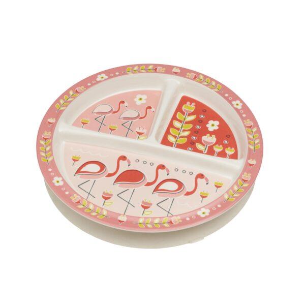 Sugarbooger vakjesbord met zuignap – Flamingo