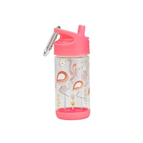 Sugarbooger flip & sip tritan drinkfles – Flamingo