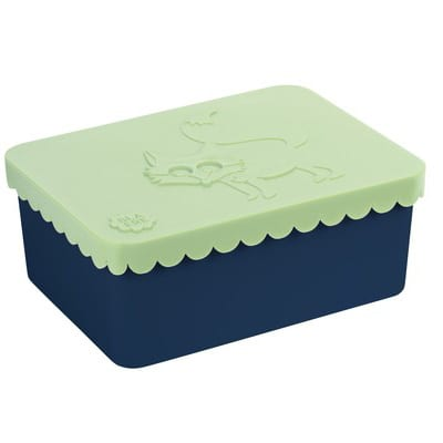 Blafre lunchbox fox – light green / navy