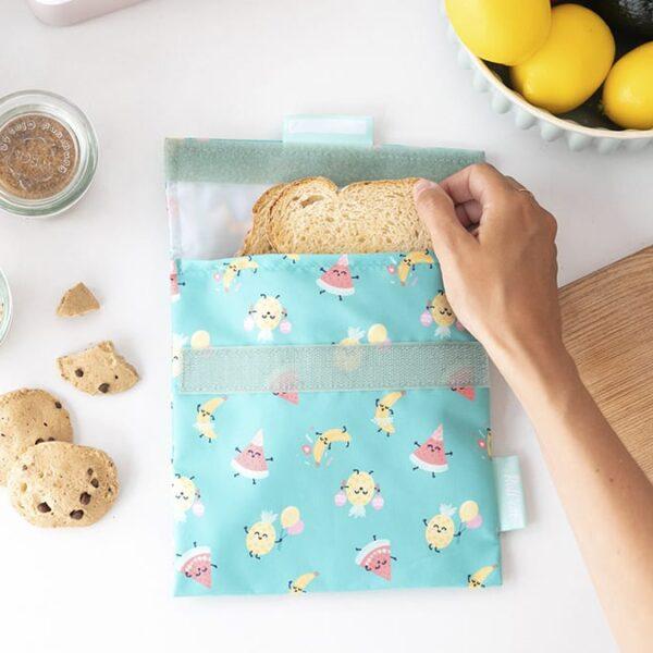 Snack'n'Go Herbruikbaar boterhamzakje – Fruits
