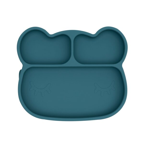 We Might Be Tiny Bear sticky plate – Blue dusk