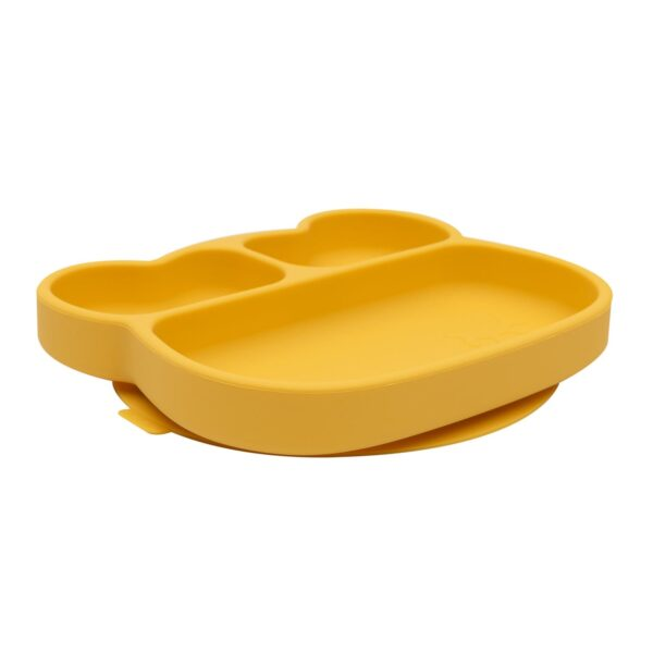 We Might Be Tiny Bear sticky plate – Yellow