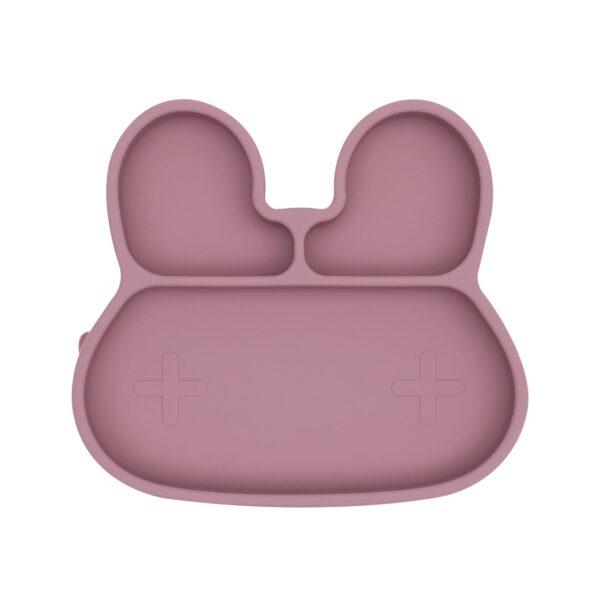 We Might Be Tiny Bunny sticky plate – Dusty rose
