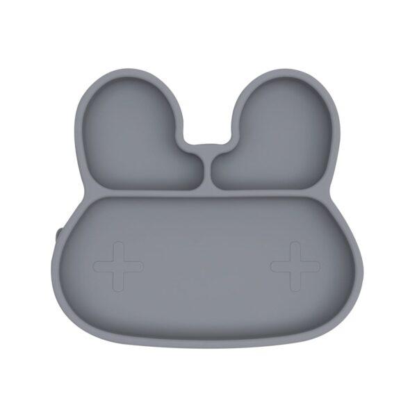 We Might Be Tiny Bunny sticky plate – Grey