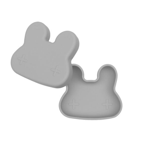 We Might Be Tiny Bunny snackie – Grey