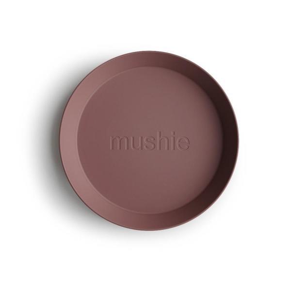 Mushie Kinderservies borden rond (set van 2)