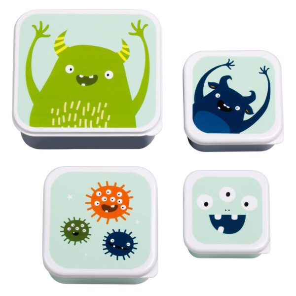 A Little Lovely Company – Lunch & snack box set Monsters