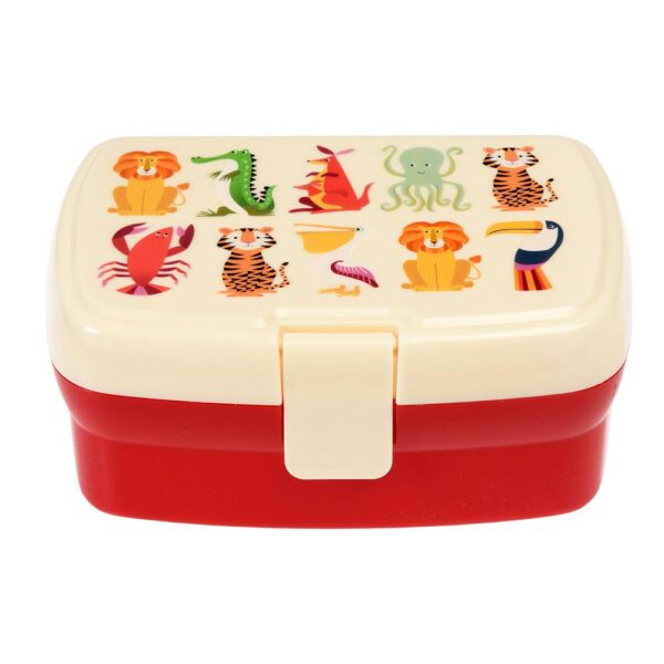 Rex London Lunchbox met tray Colourful Creatures