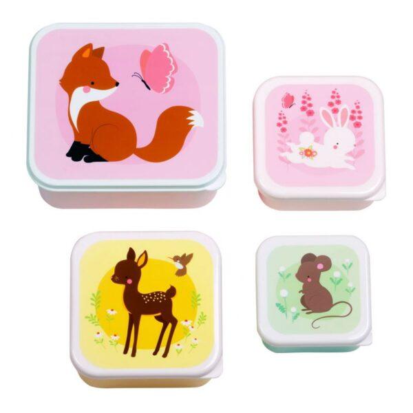 A Little Lovely Company – Lunch & snack box set Bosvriendjes