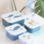 A Little Lovely Company – Lunch & snack box set Ocean
